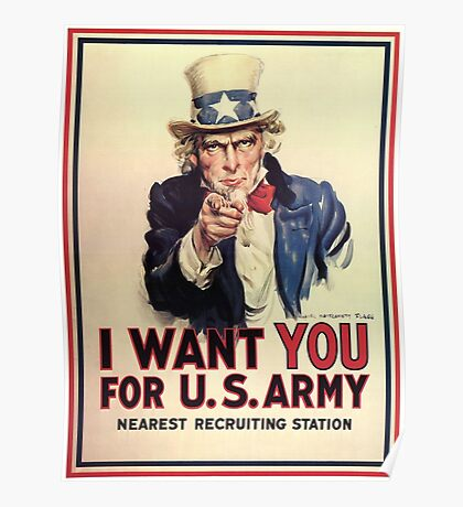 Uncle Sam - I Want You For U.S. Army Poster