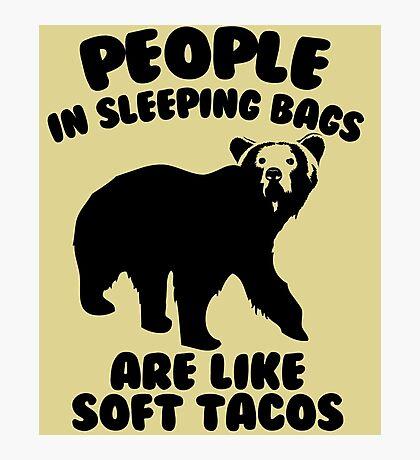 Camping Humor - Bear Food Photographic Print