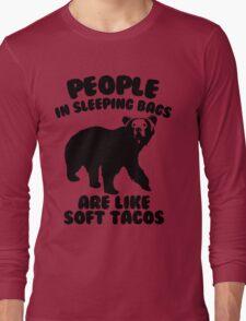 Camping Humor - Bear Food Long Sleeve T-Shirt