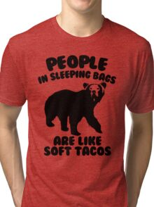 Camping Humor - Bear Food Tri-blend T-Shirt