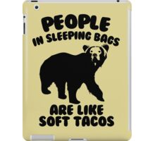Camping Humor - Bear Food iPad Case/Skin