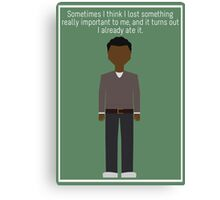 "Troy Barnes: ""Lost Something"" Canvas Print"