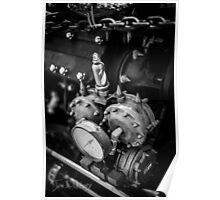 Black & White Steampunk Engine Poster