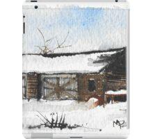 Snowy New England Barn iPad Case/Skin
