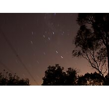 30 second exposure at night sky Photographic Print