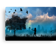 A day in the life of a Raven Heart Canvas Print