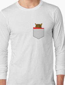 Peeking Cat All Colours Long Sleeve T-Shirt