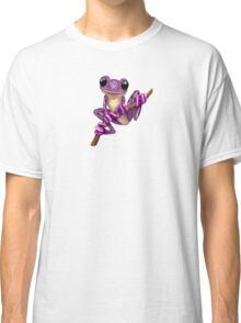 Cute Purple Tree Frog on a Branch Classic T-Shirt