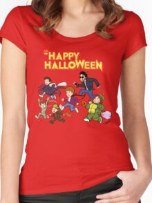 A Monster Squad Halloween Women's Fitted Scoop T-Shirt