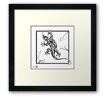 Reptile climbing wall Framed Print