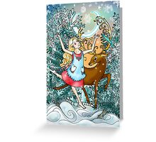 Dancing in the Snow Greeting Card