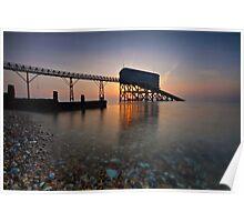 Sunrise A Pier Poster