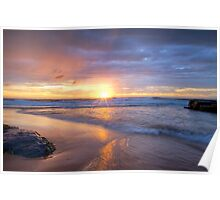 Turimetta Beach HDR Sunrise No 2 Poster