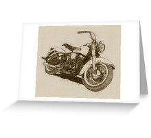 Parchment Panhead Greeting Card