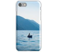 Lone fishing boat iPhone Case/Skin
