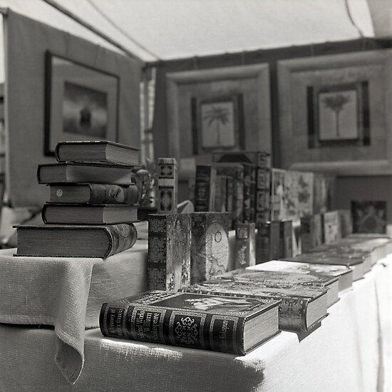 Book Stall, Salamanca Market, Hobart by Brett Rogers