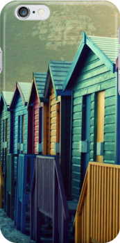 Beach Huts by Fiona Christensen