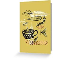 the cup and the moth Greeting Card