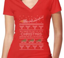Christmas Vacation Misery Women's Fitted V-Neck T-Shirt