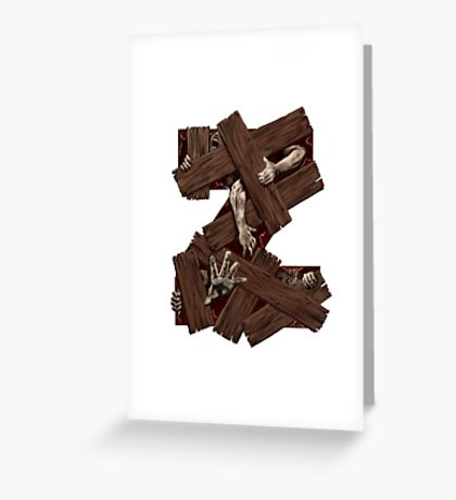Geek letter Z Greeting Card