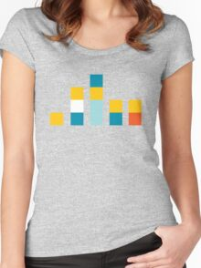 Minimal Simpsons Women's Fitted Scoop T-Shirt