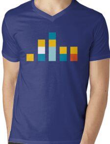 Minimal Simpsons Mens V-Neck T-Shirt