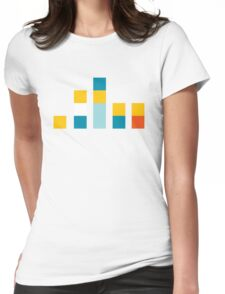 Minimal Simpsons Womens Fitted T-Shirt