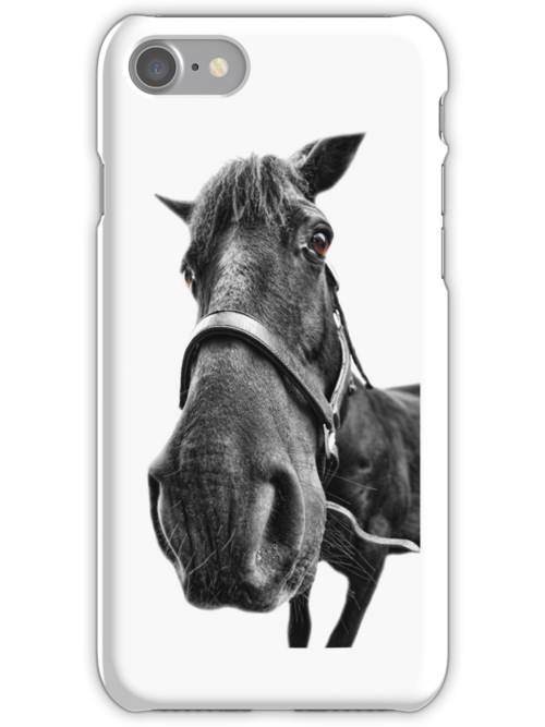 iPhone 4 Case: Horse by Yhun Suarez