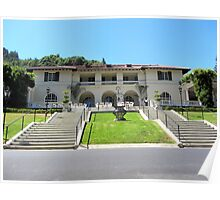 Villa Montalvo in California Poster