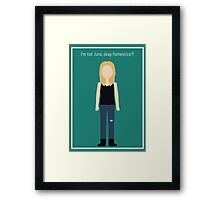 "Britta Perry: ""I'm Not Juno"" Framed Print"
