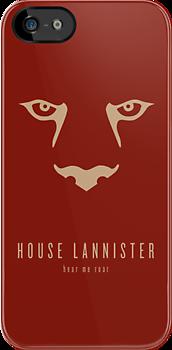 House Lannister Minimalist iPhone Case by liquidsouldes