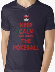 Keep calm and throw the pokeball Mens V-Neck T-Shirt