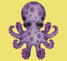 Cute Purple Baby Octopus One Piece - Short Sleeve