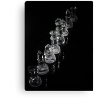 Glass Chess Pieces Canvas Print