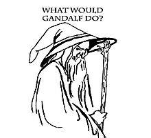 What would Gandalf Do Photographic Print