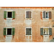 Old weathered facade. Photographic Print