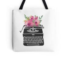 Type flowers - watercolor floral typewriter Tote Bag