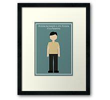 "Senor Chang: ""Arizona"" Framed Print"