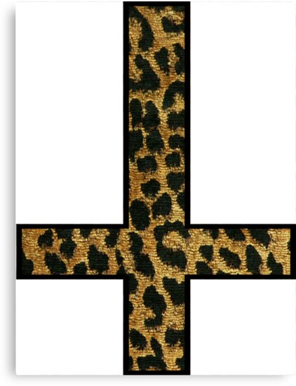 Leopard Inverted Cross by jact