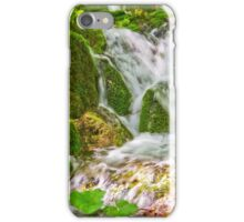 Waterfall and moss. iPhone Case/Skin