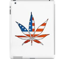 Marijuana Leaf American Flag iPad Case/Skin