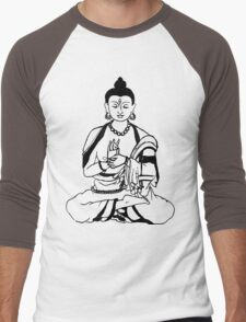 Big Buddha Design Men's Baseball ¾ T-Shirt