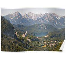 neuschwanstein and hohenschwangau Poster