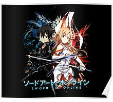 kirito and asuna Poster