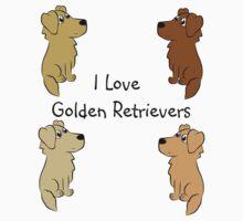 I Love Golden Retrievers! Kids Clothes