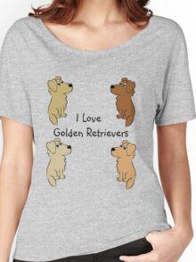 I Love Golden Retrievers! Women's Relaxed Fit T-Shirt