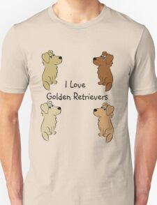 I Love Golden Retrievers! T-Shirt