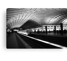 DC Metro with Train Canvas Print