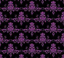 Fleurette~Fuscia on Black by Larry McFarland