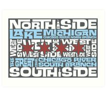 Chicago Spelled Out Art Print